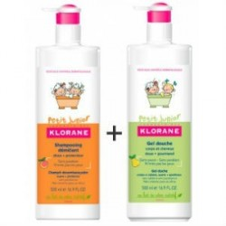 KLORANE JUNIOR CHAMPU DESENREDANTE 500ML + GEL DE PERA 500ML