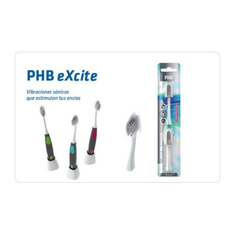 PHB CEPILLO DENTAL ELECTRICO EXCITE - RECAMBIOS 2 UD