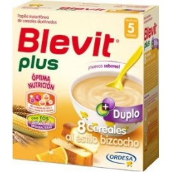 BLEVIT PLUS DUPLO 8 CEREALES AL ESTILO BIZCOCHO 600GR