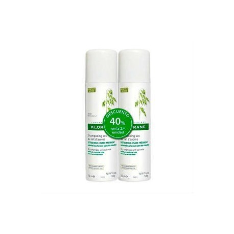 KLORANE CHAMPU SECO EXTRACTO AVENA SPRAY 150 ML - DUPLO