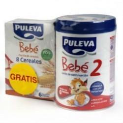 PULEVA BEBE 2 800GR + 8 CEREALES 200GR