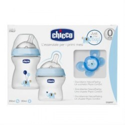 CHICCO SET NATURAL FEELING AZUL