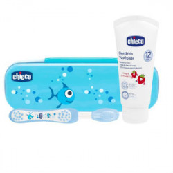 CHICCO SET DENTAL AZUL 12M+