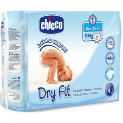 CHICCO PAÑAL DRY FIT TALLA 1 2-5KG 27ud