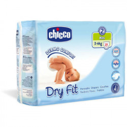 CHICCO PAÑAL DRY FIT TALLA 2 3-6KG 25ud
