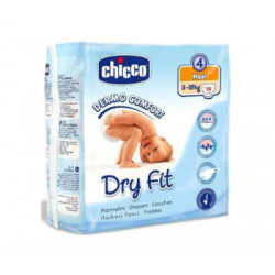 CHICCO PAÑAL DRY FIT TALLA 4 8-18KG 19ud