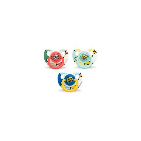 SUAVINEX CHUPETE ANATOMICO LATEX +6-18M BABY ART