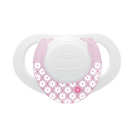 CHICCO CHUPETE COMPACT CAUCHO ROSA 0-6M 1UD