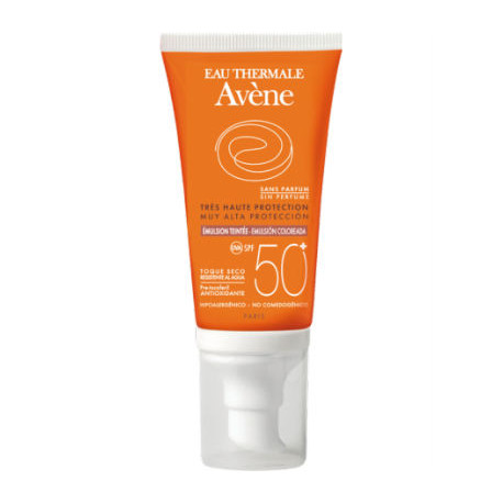 AVENE SOLAR EMULSION SPF50+ SIN PERFUME CON COLOR 50ML