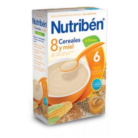 NUTRIBEN 8 CEREALES Y MIEL 4 FRUTAS 600 GR