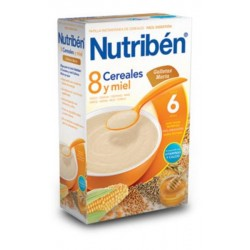 NUTRIBEN 8 CEREALES MIEL GALLETAS MARIA 600 GR