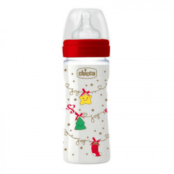CHICCO BIBERON WELL-BEING NAVIDAD SILICONA 250ML