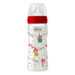 CHICCO BIBERON WELL-BEING NAVIDAD SILICONA 330ML