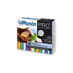 BIMANAN PRO BARRITAS CHOCOLATE-COCO 6 uds.