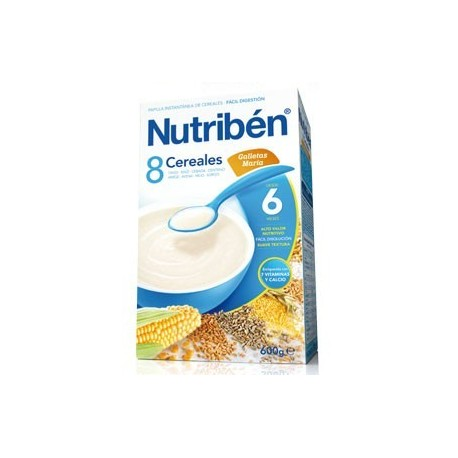 NUTRIBEN 8 CEREALES GALLETA MARIA 600 GR
