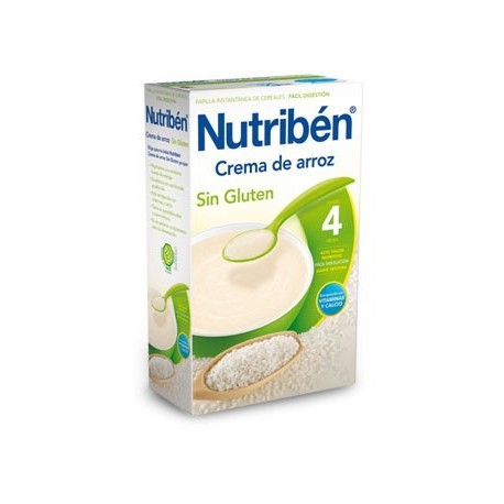 NUTRIBEN CREMA DE ARROZ SIN GLUTEN 300 GR.