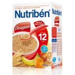 NUTRIBEN DESAYUNO COPOS DE TRIGO Y FRUTAS 750GR