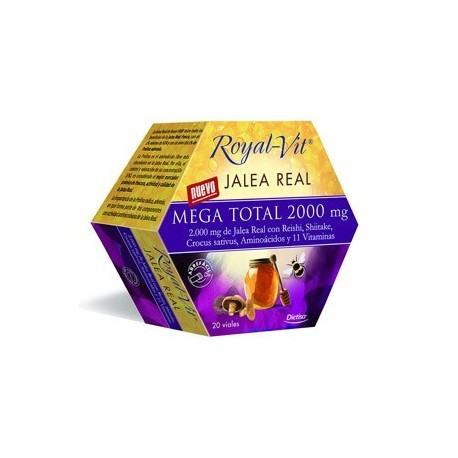DIETISA ROYAL-VIT JALEA REAL MEGA TOTAL 2000 mg - 20 VIALES