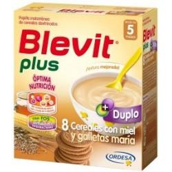 BLEVIT PLUS DUPLO 8 CEREALES Y MIEL CON GALLETAS MARIA 600GR