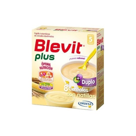 BLEVIT PLUS DUPLO 8 CEREALES CON NATILLAS 600GR