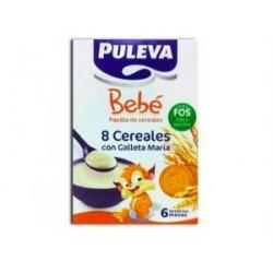 PULEVA BEBE 8 CEREALES GALLETAS MARIA BIFIDUS 500GR