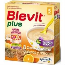 BLEVIT PLUS 8 CEREALES MIEL NARANJA Y GALLETAS 600GR