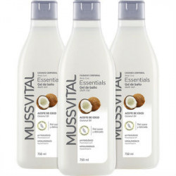 MUSSVITAL PACK 3 GELES COCO 750ML