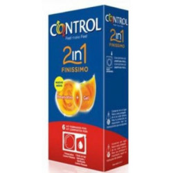 CONTROL 2en1 FINISSIMO+LUBRIC. 6ud