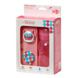DR BROWN´S SET BIBERON ROSA 240ML+CH+BR