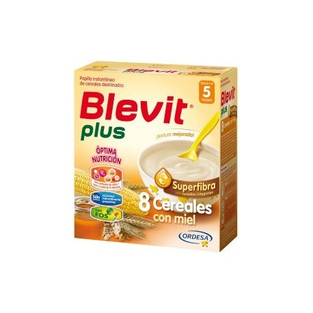 BLEVIT PLUS SUPERFIBRA 8 CEREALES CON MIEL 600 GR.