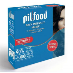 PILFOOD INTENSITY MUJER 15 AMPOLLAS + 90 CAPSULAS + CHAMPU 200 ML GRATIS