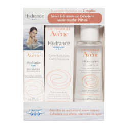 AVENE HYDRANCE OPTIMALE LIGERA PIEL NORMAL MIXTA 40ML + loción micelar de 100 ml y Sérum hidratante de 5 ml de REGALO