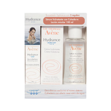 AVENE HYDRANCE OPTIMALE LIGERA SPF20 PIEL NORMAL MIXTA 40ML + Loción micelar de 100 ml y Sérum hidratante de 5 ml de REGALO