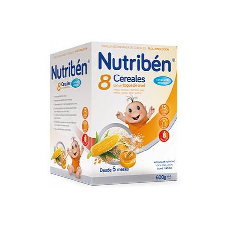 NUTRIBEN 8 CER.MIEL C/LECHE ADAP. 600gr