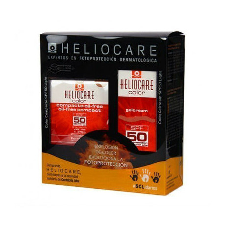HELIOCARE PACK GEL CREMA BROWN SPF50 + COMPACTO OIL FREE BROWN SPF50