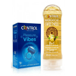 CONTROL MASSAGE 2 EN 1 MADAGASCAR 200 ML + ANILLO VIBES