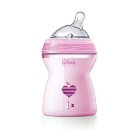 CHICCO BIBERON NATURAL FEELING 2M+ 250ML ROSA