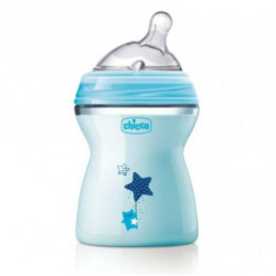 CHICCO BIBERON NATURAL FEELING 2M+ 250ML AZUL