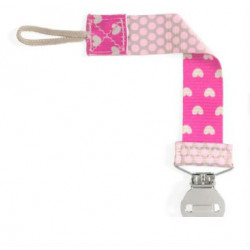 CHICCO CLIP CHUPETE FASHION ROSA