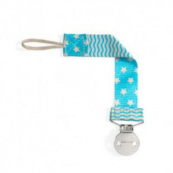 CHICCO CLIP CHUPETE FASHION AZUL