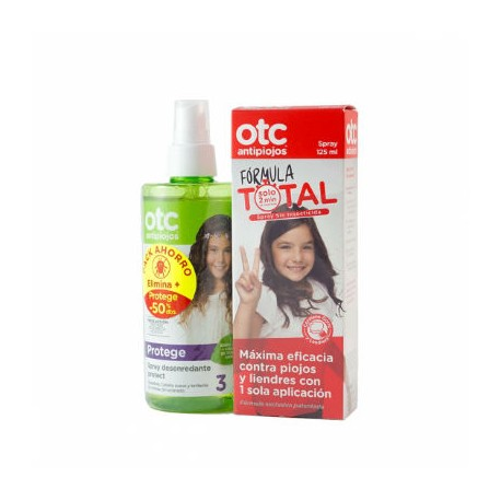 OTC ANTIPIOJOS FORMULA TOTAL 125ML + OTC SPRAY DESENREDANTE PROTECT 250ML