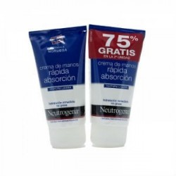 NEUTROGENA PACK MANOS DUPLO RAPIDA ABSORCION 75ml + 75ml