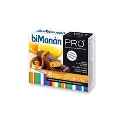 BIMANAN PRO BARRITAS CHOCOLATE-NARANJA 6 uds.