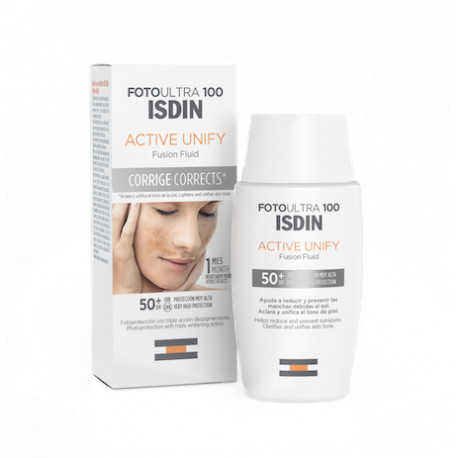 ISDIN FOTOPROTECTOR ULTRA 100 ACTIVE UNIFY FUSION FLUID SIN COLOR 50ML