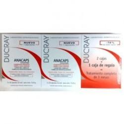 DUCRAY ANACAPS TRI-ACTIV 3 x 30 caps - Pack para 3 meses.
