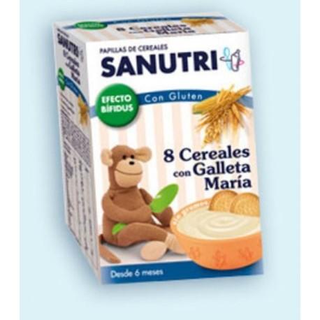 SANUTRI 8 CEREALES GALLETAS MARIA BIFIDUS