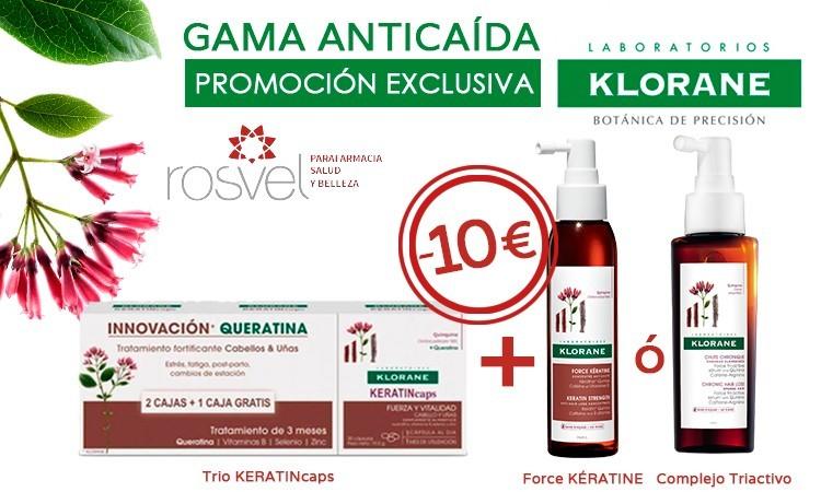 KLORANE KERATINE ANTICAIDA - 10 EUROS DE DESCUENTO